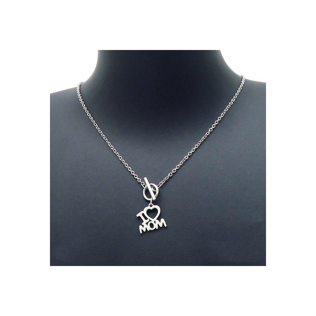 Dámsky náhrdelník pre mamu I love mom