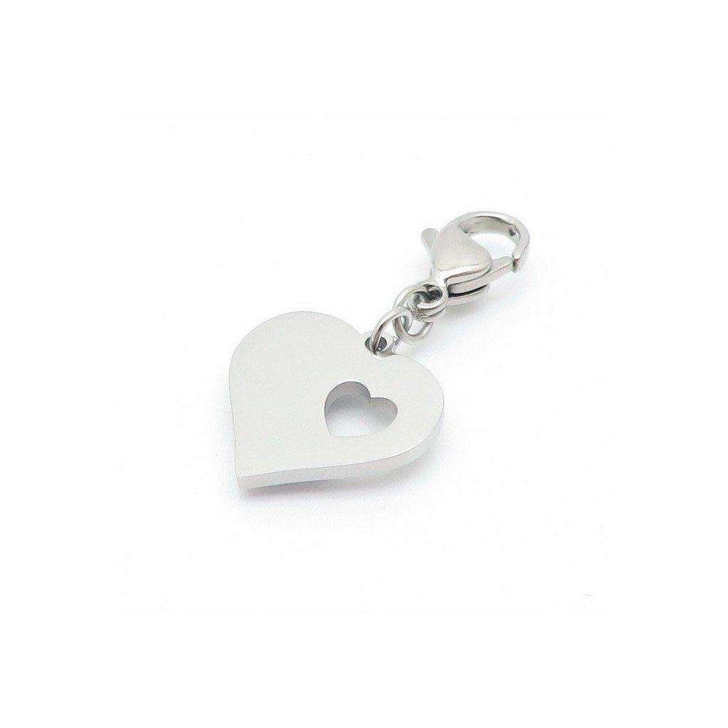 Kľúčenka z chirurgickej ocele srdce v srdci