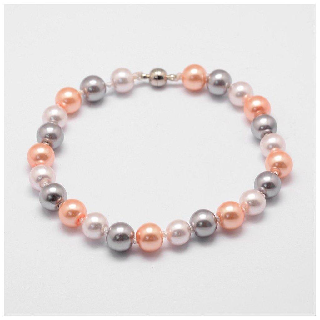 Dámsky farebný perlový náramok na nohu