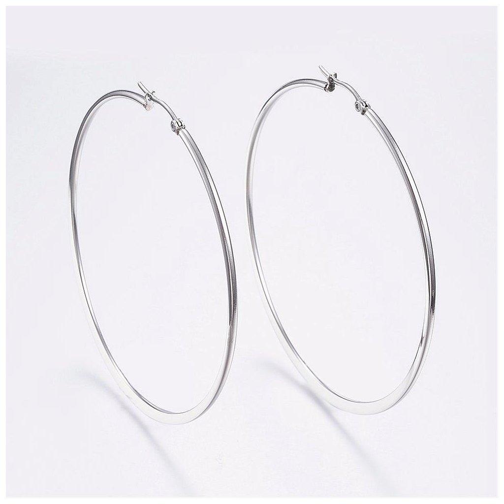 Náušnice kruhy z chirurgickej ocele veľké 7 cm