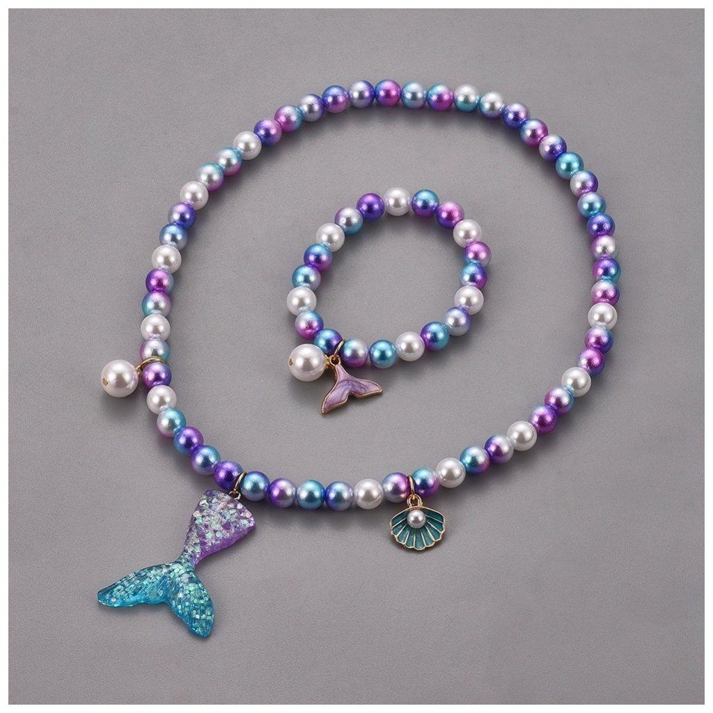 Dámsky set náramok a náhrdelník morská panna