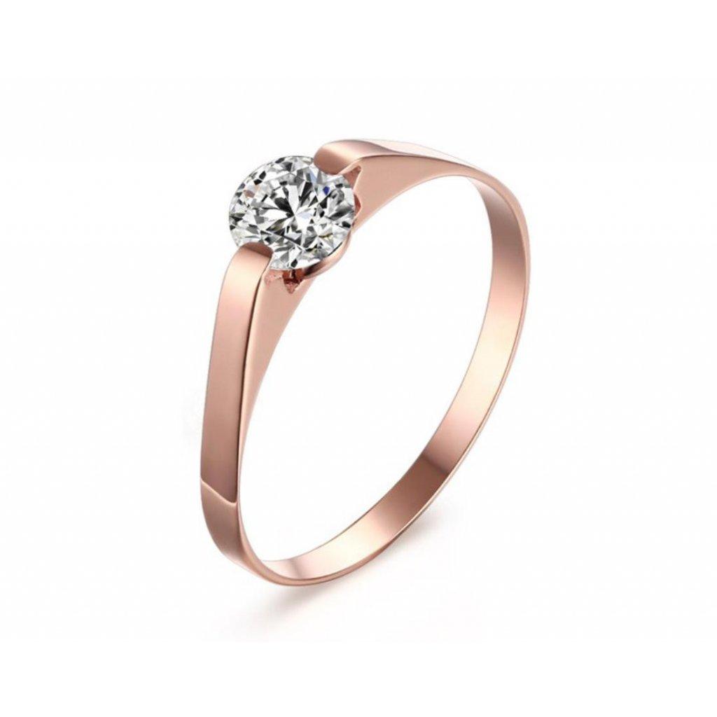 Dievčenský prsteň so zirkónom z chirurgickej ocele