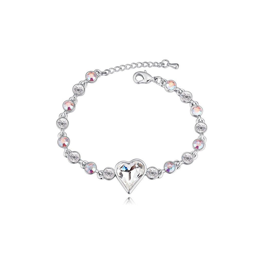 Exkluzívny náramok SWI crystal Srdce s kryštálmi - mŠperk.sk 09cccebf9e8