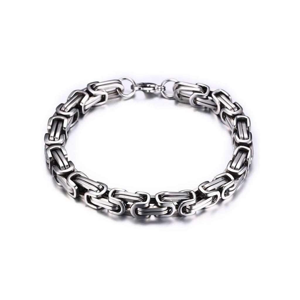 4446c4d80 Náramok z chirurgickej ocele kráľovsky vzor - mŠperk.sk
