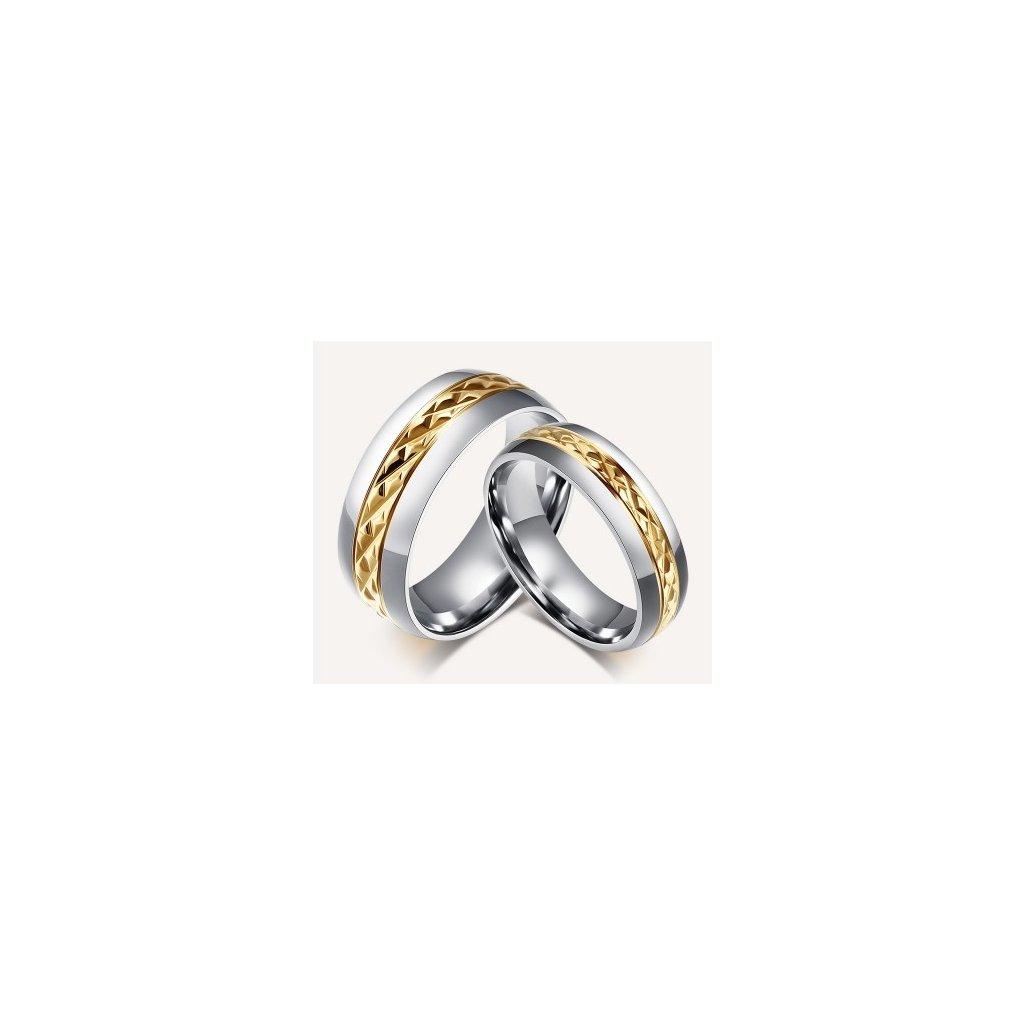 7edb02906 Prstene pre páry s diamantovým rezom - 2ks - mŠperk.sk