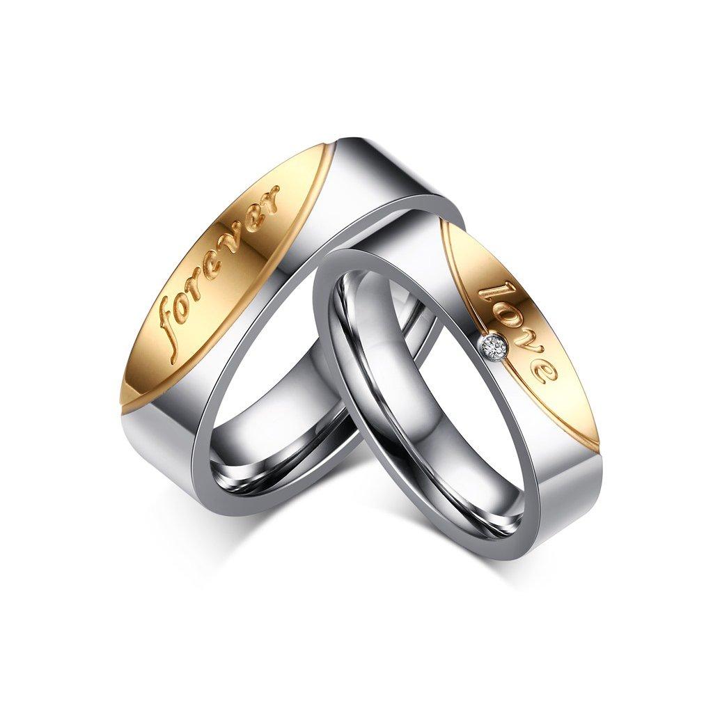 Prstene pre páry z chirurgickej ocele - 2ks - mŠperk.sk 679290e2ac7
