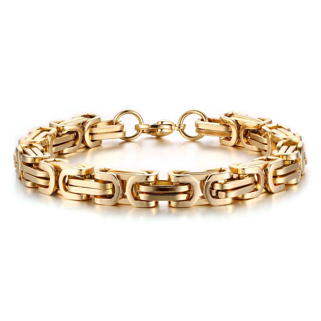 8cc0ccdfd Náramok z chirurgickej ocele kráľovský vzor - pozlátený - mŠperk.sk
