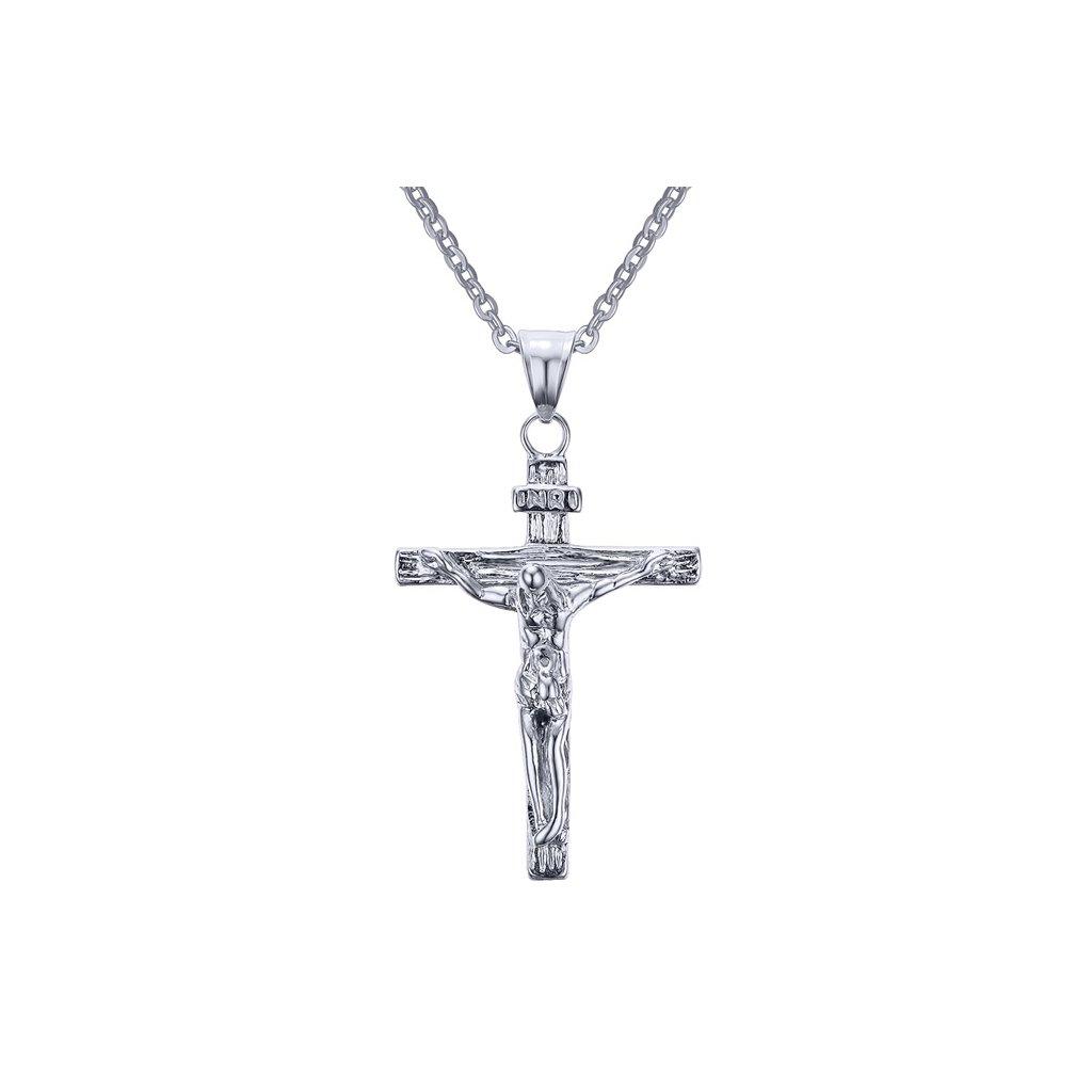 60e4a6481 Prívesok krížik z chirurgickej ocele - mŠperk.sk