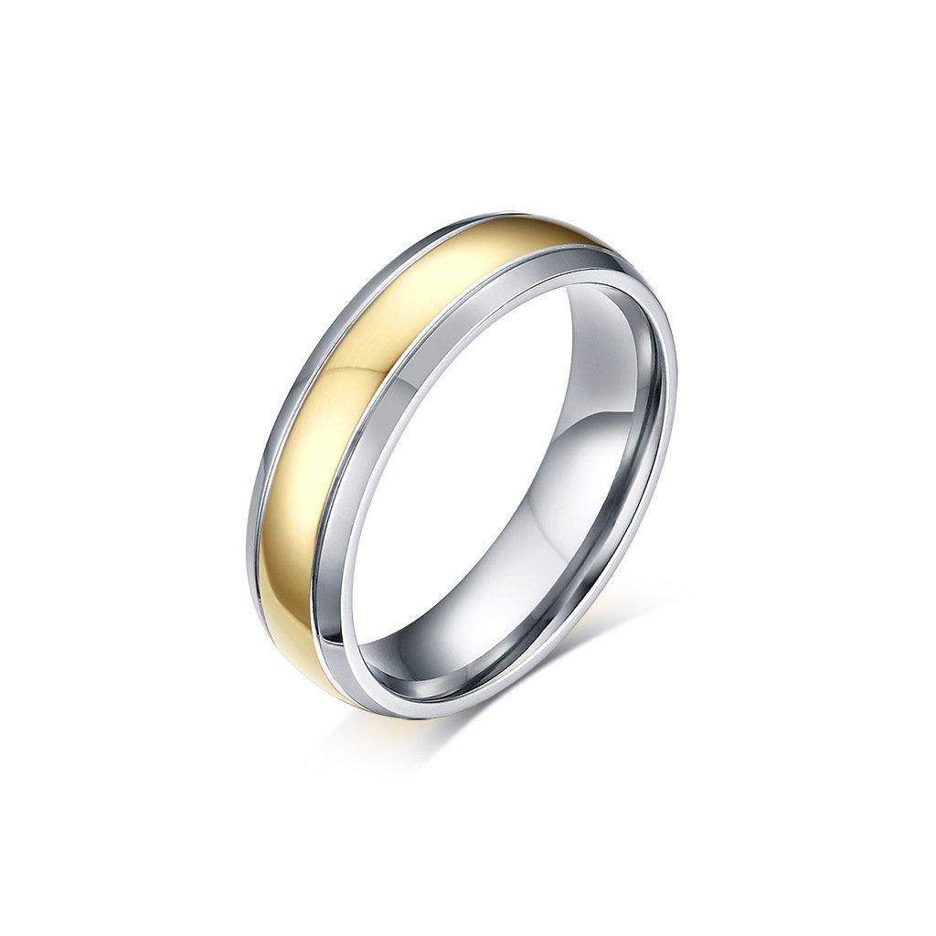cb9b19f0f Titánový prsteň strieborno zlatý - mŠperk.sk