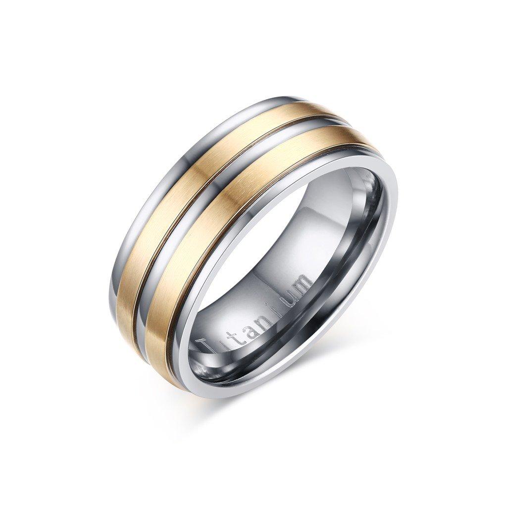 5eff9ef93 Titánový prsteň s dvoma zlatými pruhmi - mŠperk.sk