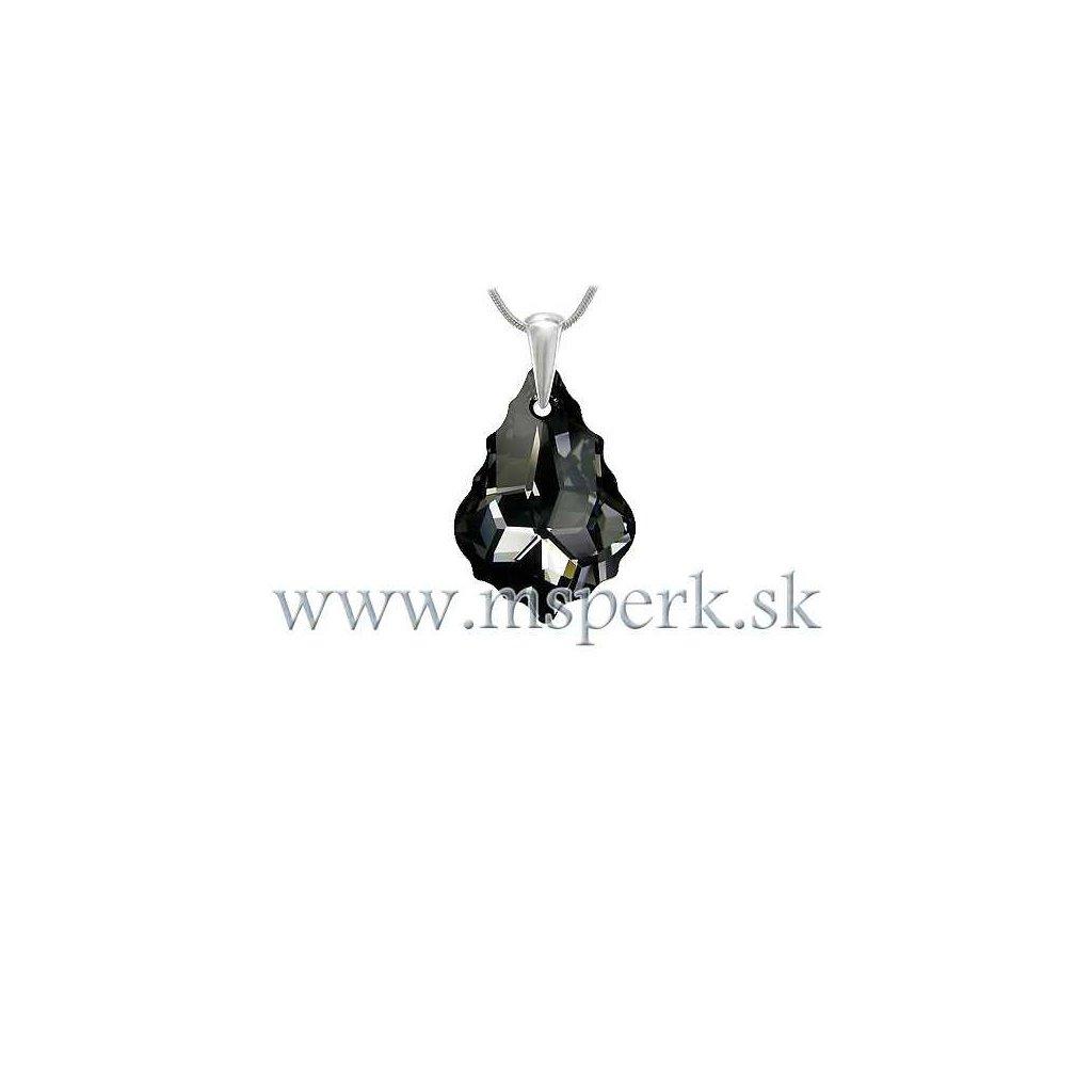 Prívesok Barok Made With Swarovski Crystals - čierny