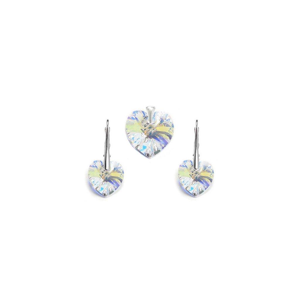Prívesok a náušnice srdce Made with Swarovski Crystals - mŠperk.sk d6c951e5d39