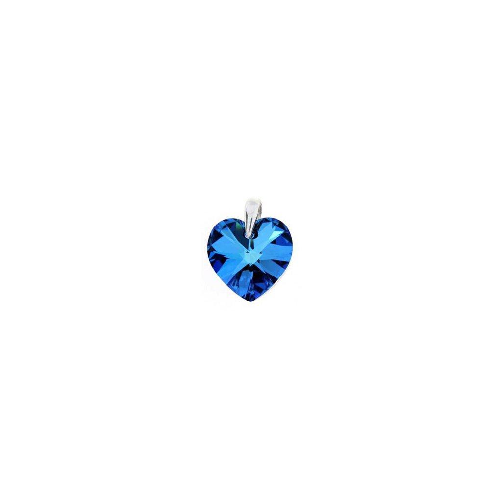 Prívesok srdce Made With Swarovski Crystals 18mm - mŠperk.sk fda6108c777
