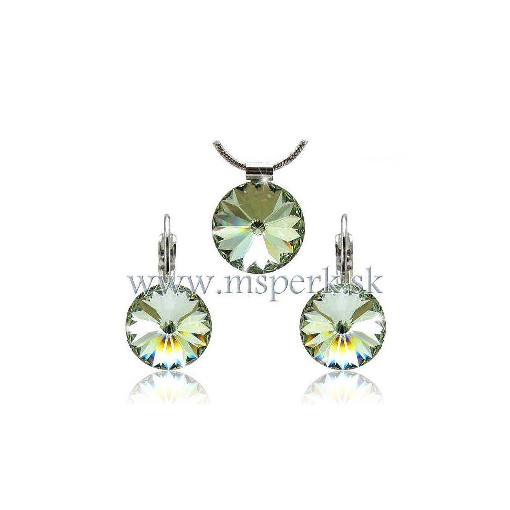 Set SWI crystal v tvare kruhu svetlo zelená farba