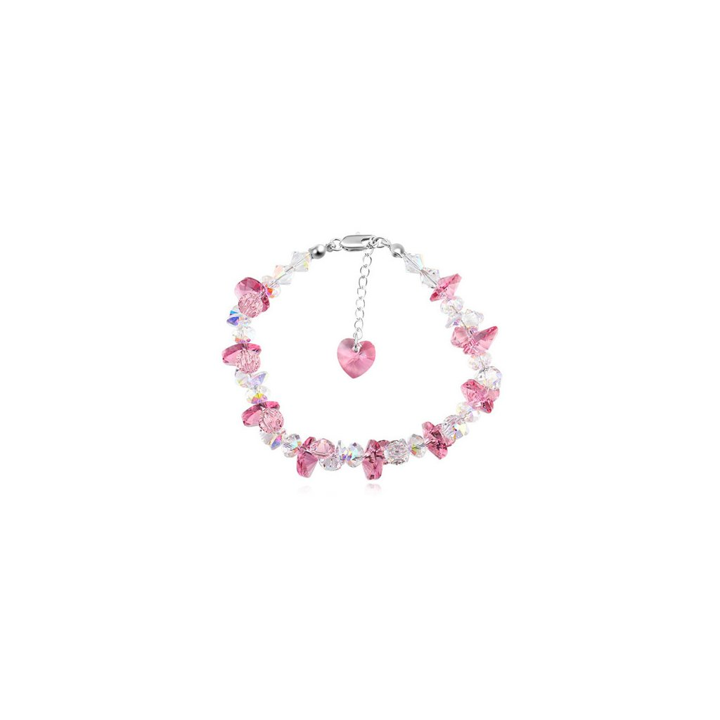 Exkluzívny náramok Made With Swarovski Crystals - Rose