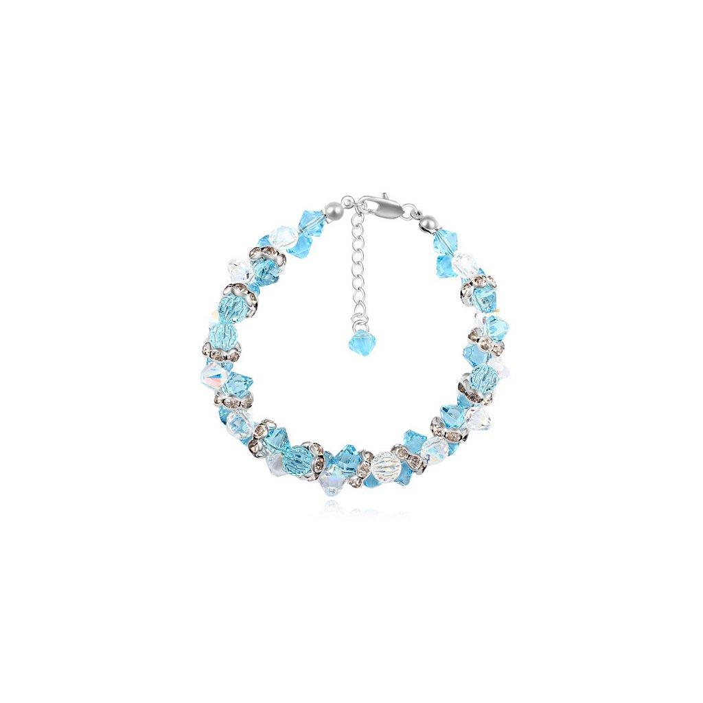 Elegantný dámsky náramok s kryštálmi Crystal Aqua - mŠperk.sk 7aabb450885