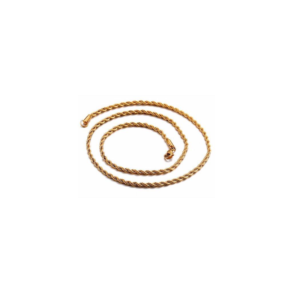422384600 Retiazka z chirurgickej ocele Elix 55 cm - zlatá farba - mŠperk.sk