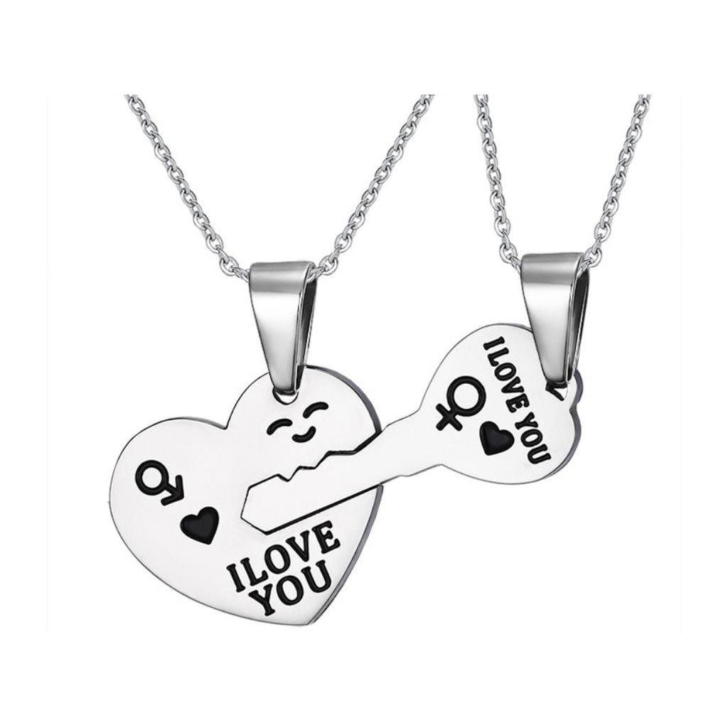 c209649a9 Prívesok srdce a kľúč pre dvoch s retiazkou - mŠperk.sk