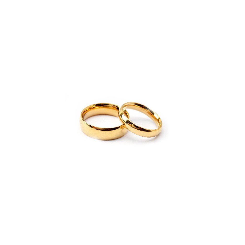 Obrúčky - klasický vzor - zlatá farba 2 ks