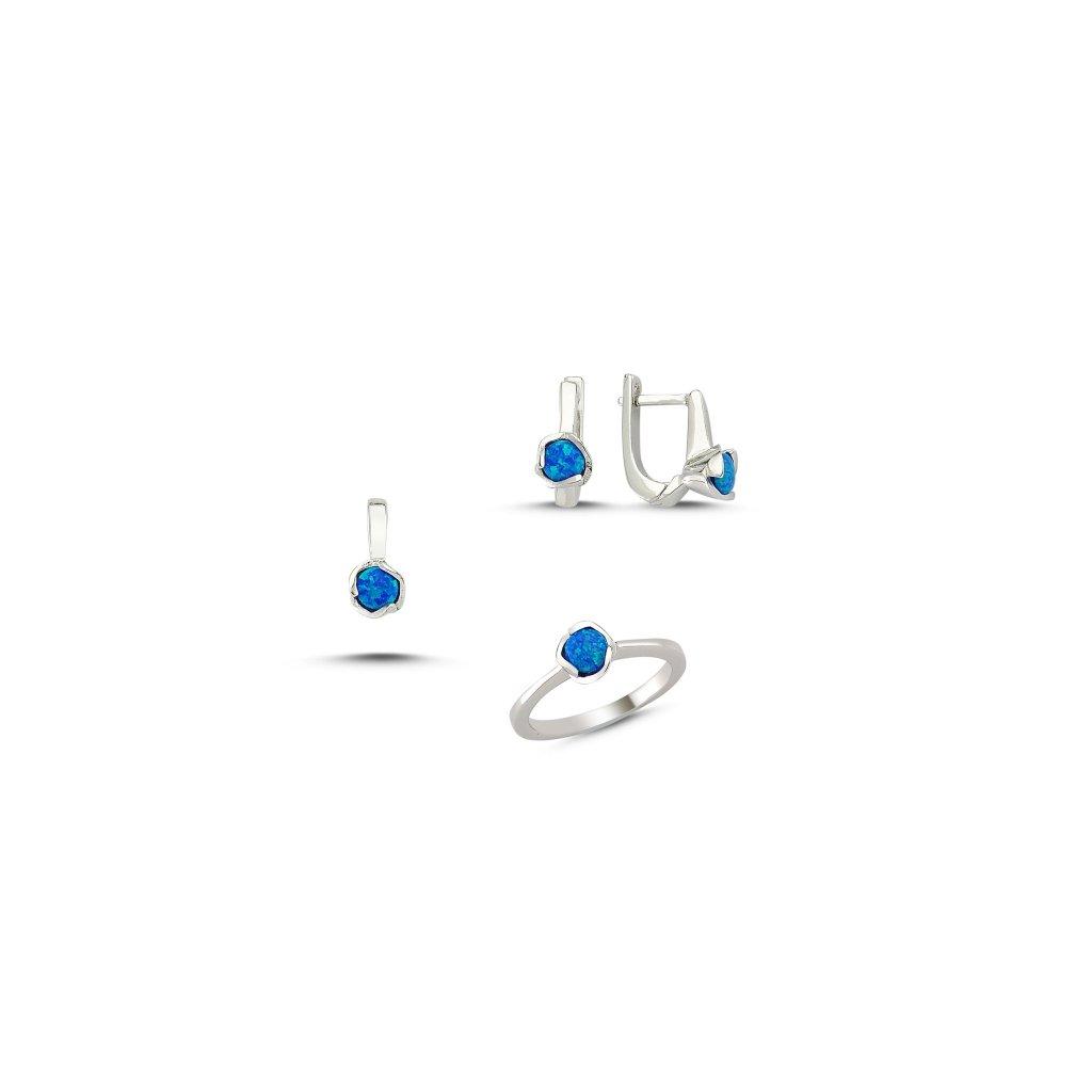 f5fb705c8 Strieborná súprava šperkov s opálom Náušnice s opálom Ag 2g ...