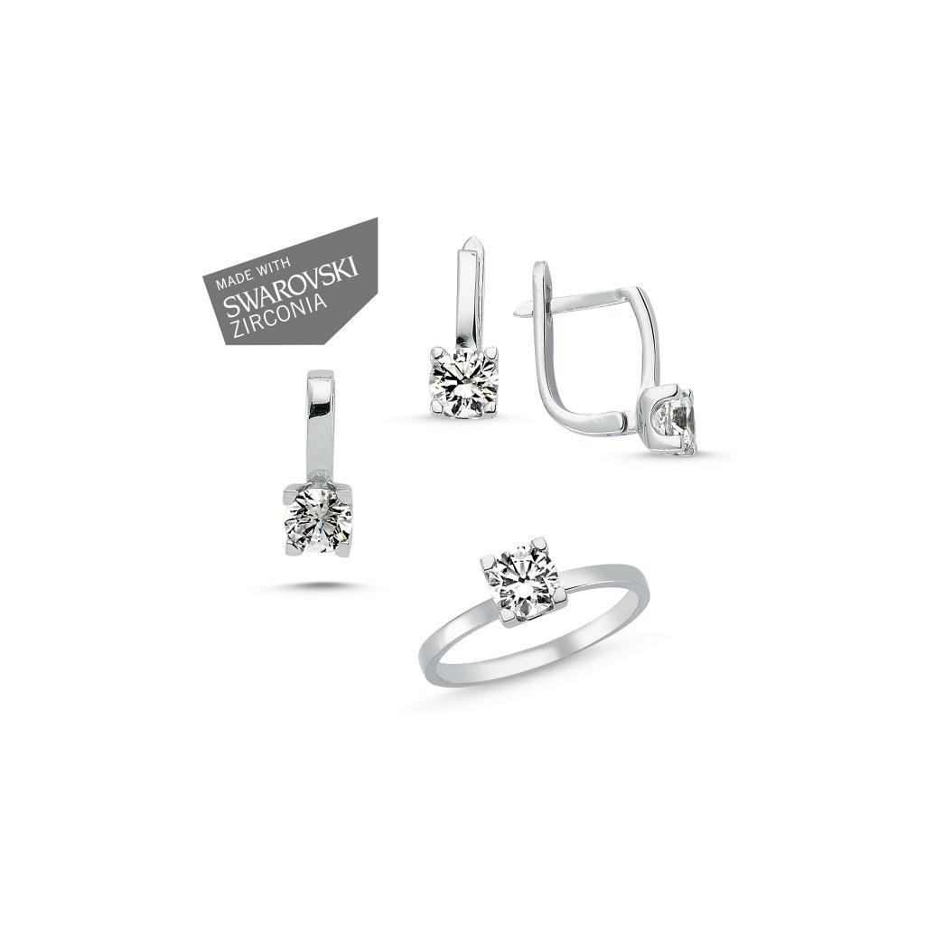 5b990e4dc Súprava šperkov so zirkónmi Swarovski Náušnice so zirkónom Ag 1g ...