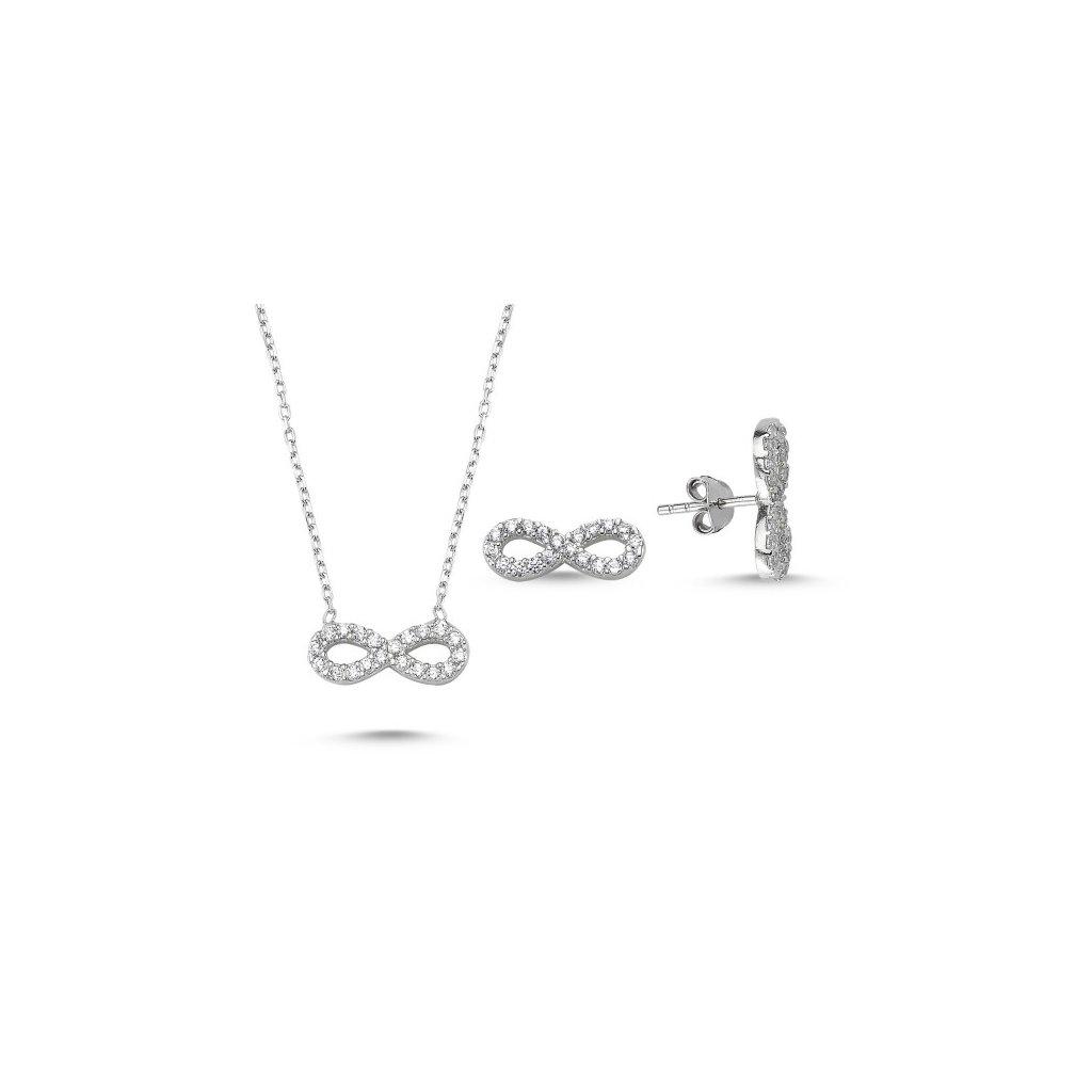 6e93039c6 Strieborná súprava šperkov Infinity - mŠperk.sk