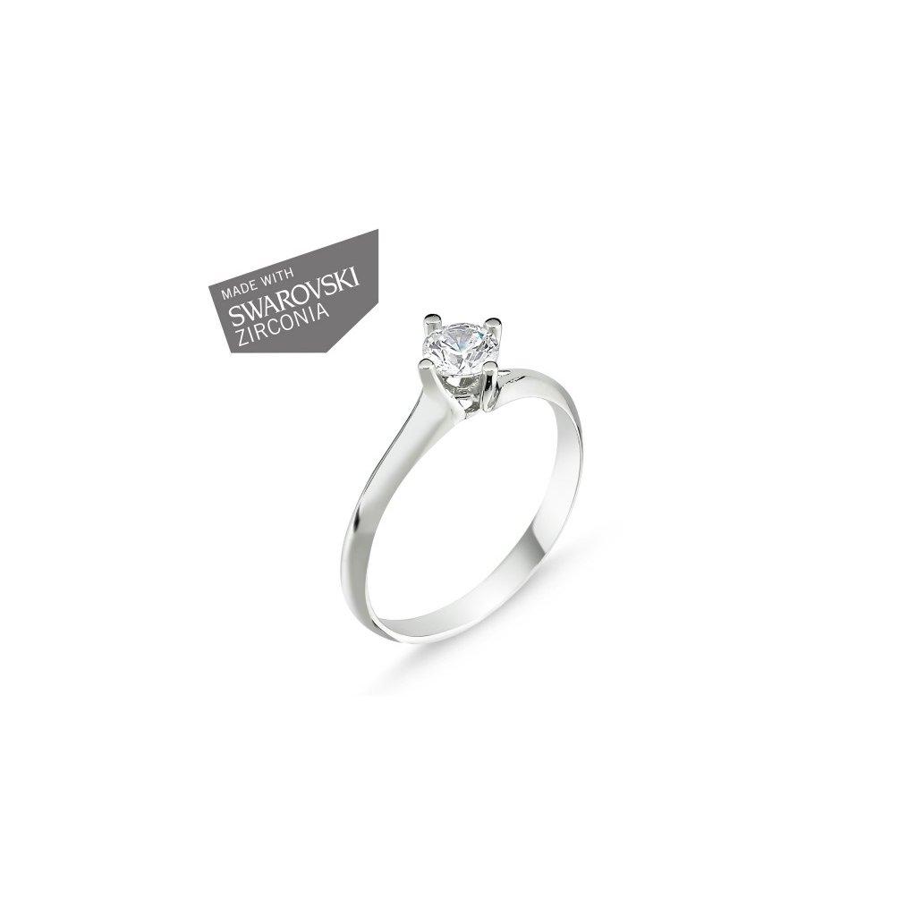 Strieborný prsteň so Swarovski zirkónmi  Striebro 925/1000: 2 g + RH