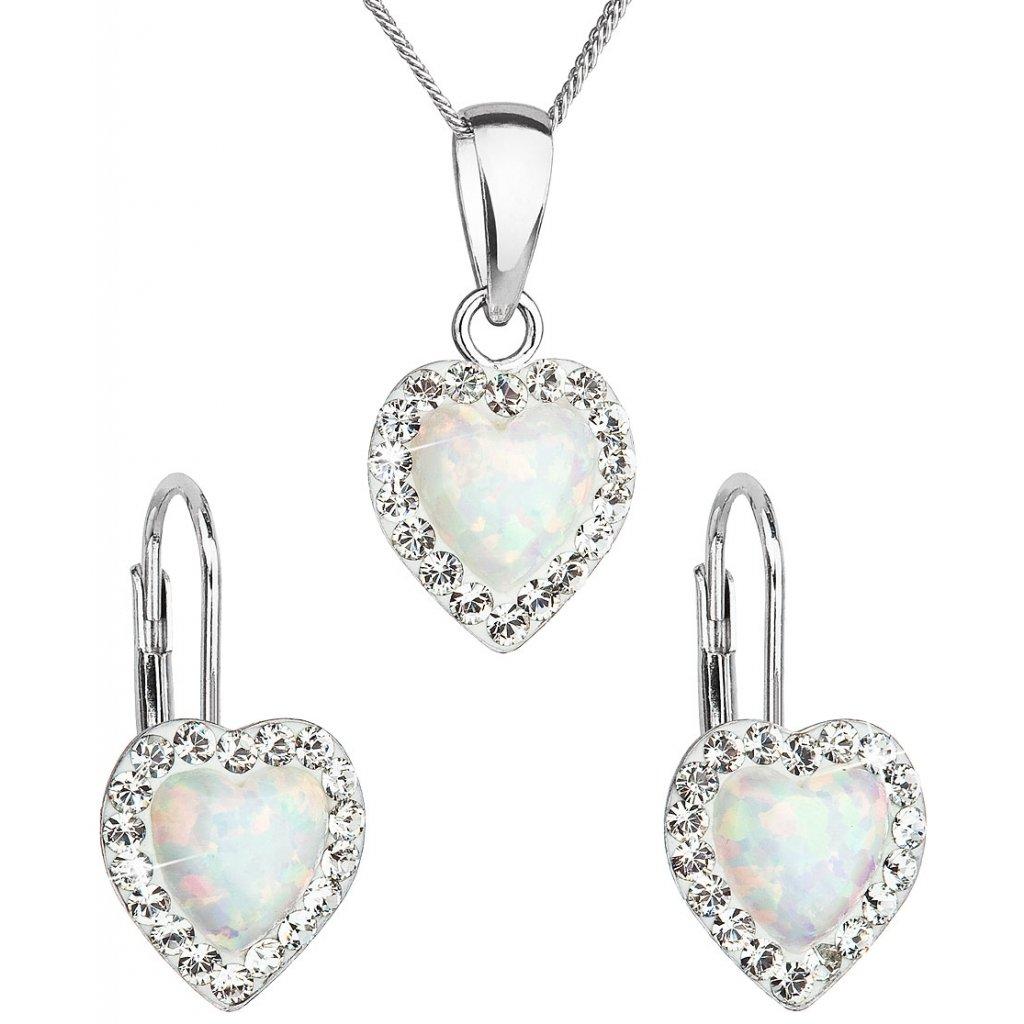 Súprava šperkov so synt. opálom a Swarovski crystals 9c3e612b2d5