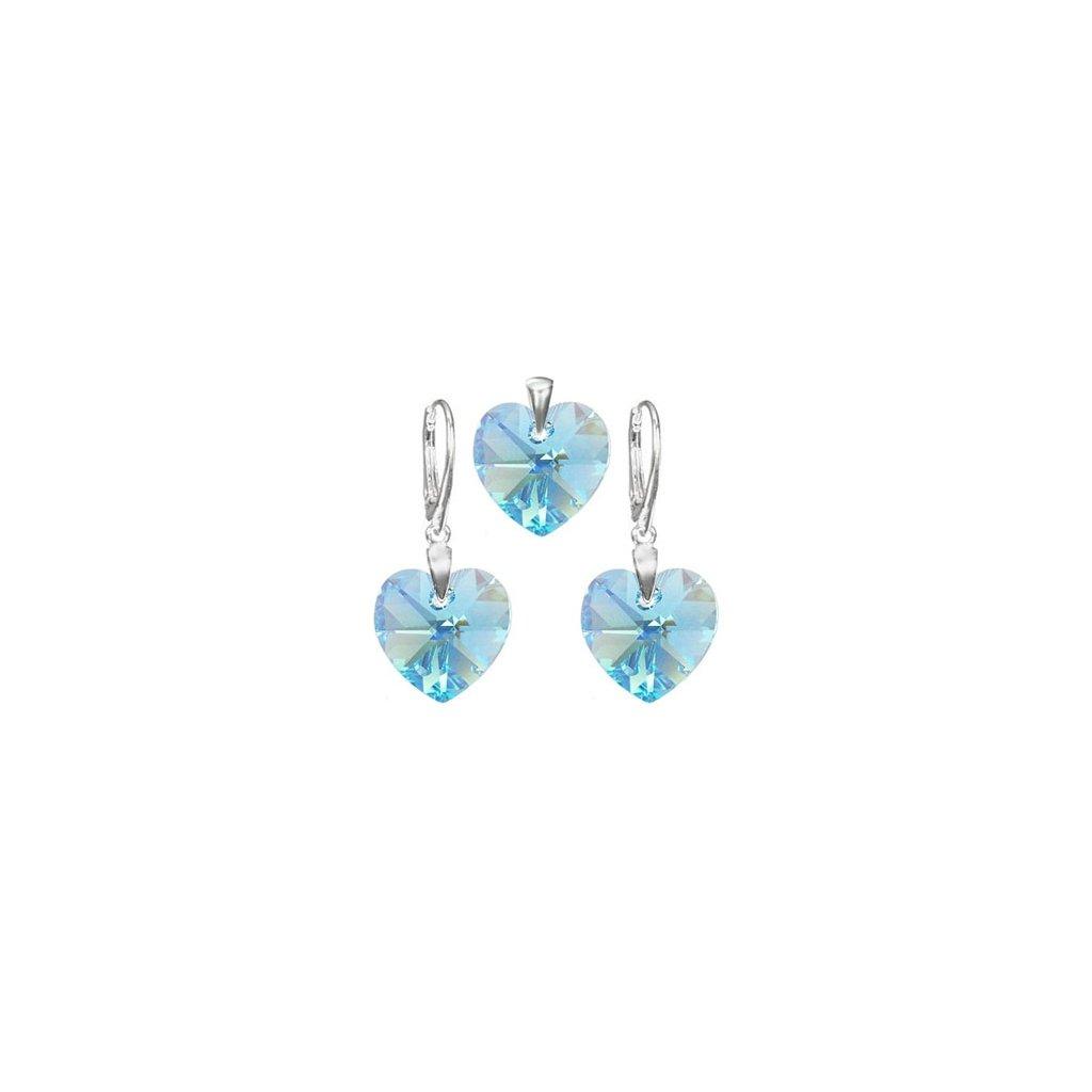Exkluzívny set SWI crystal 14 mm svetlo modrá farba