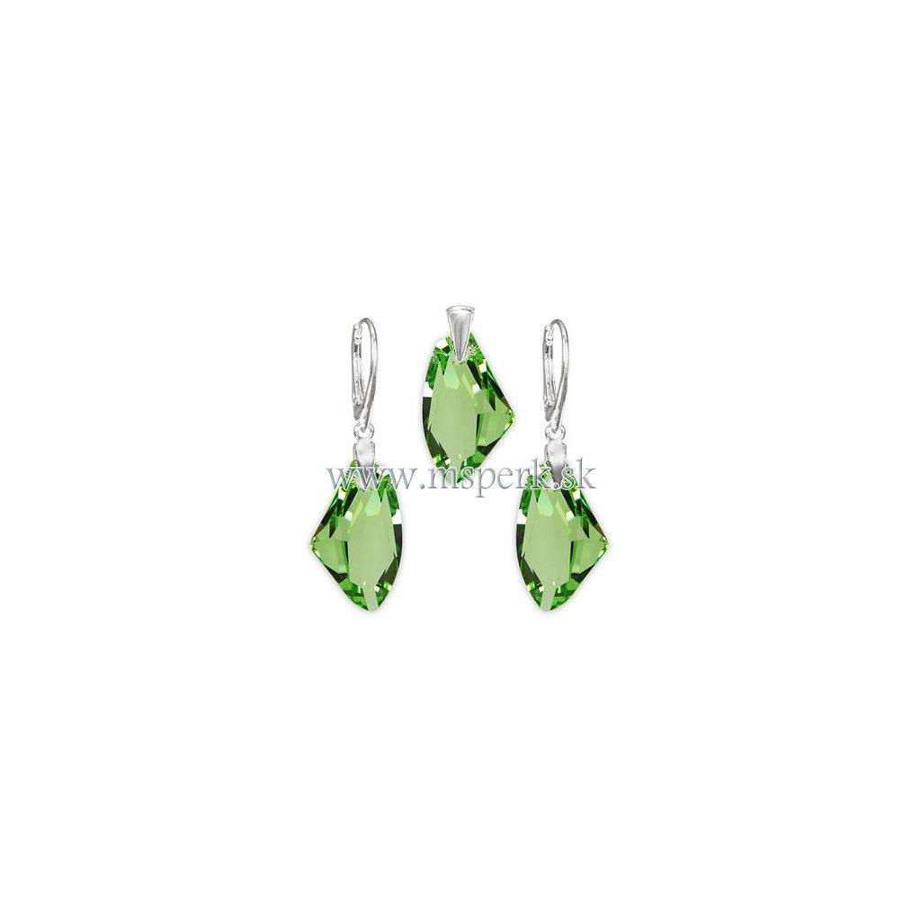 Exkluzívny set SWI crystal zelená farba