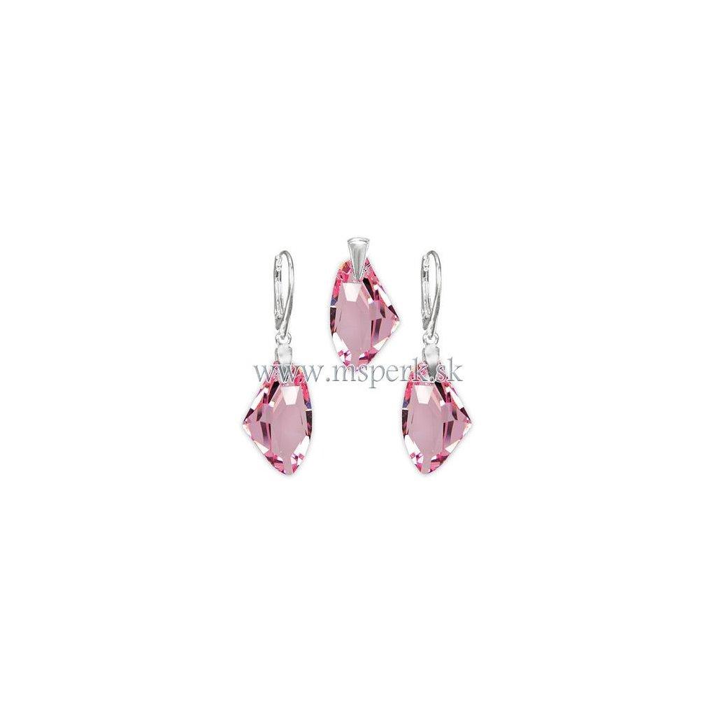 Exkluzívny set SWI crystal ružová farba