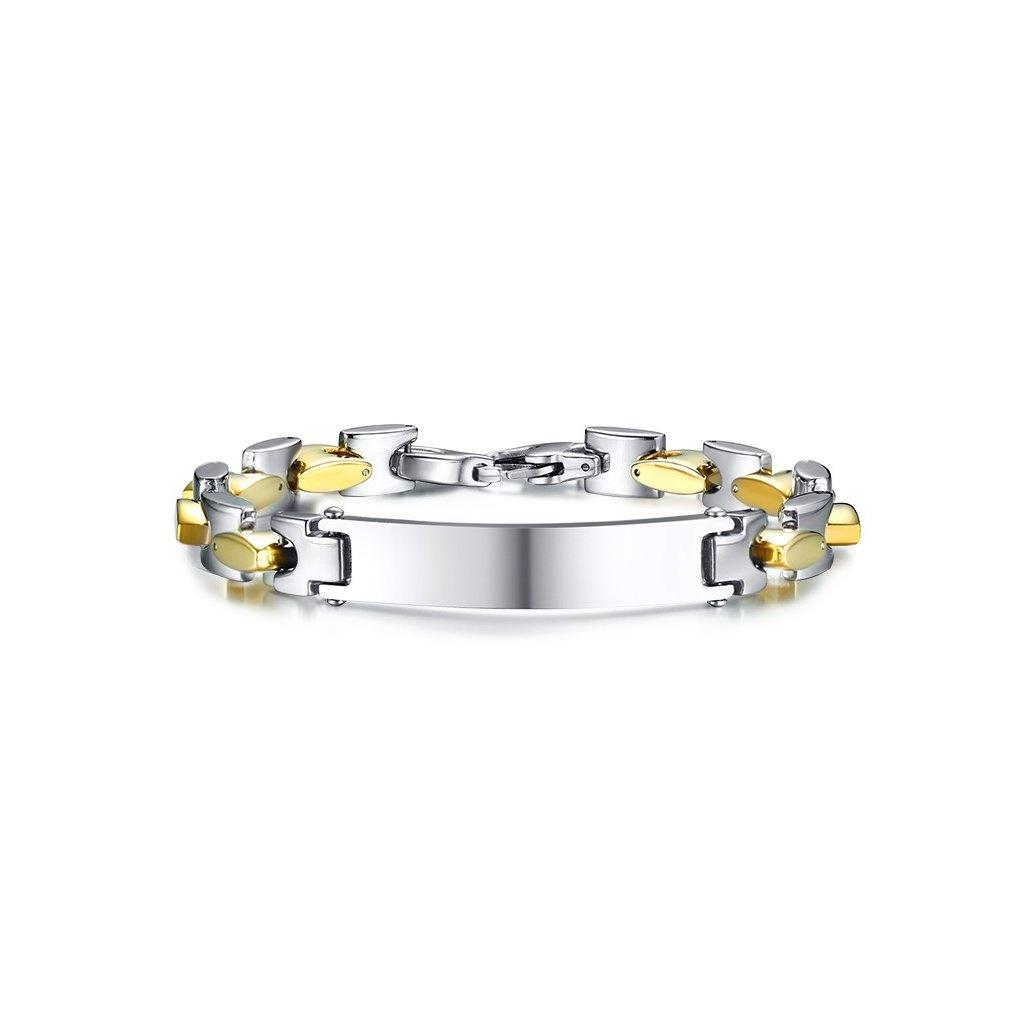 5b6552b0e Náramok z chirurgickej ocele - kombinovaný 24 cm - mŠperk.sk