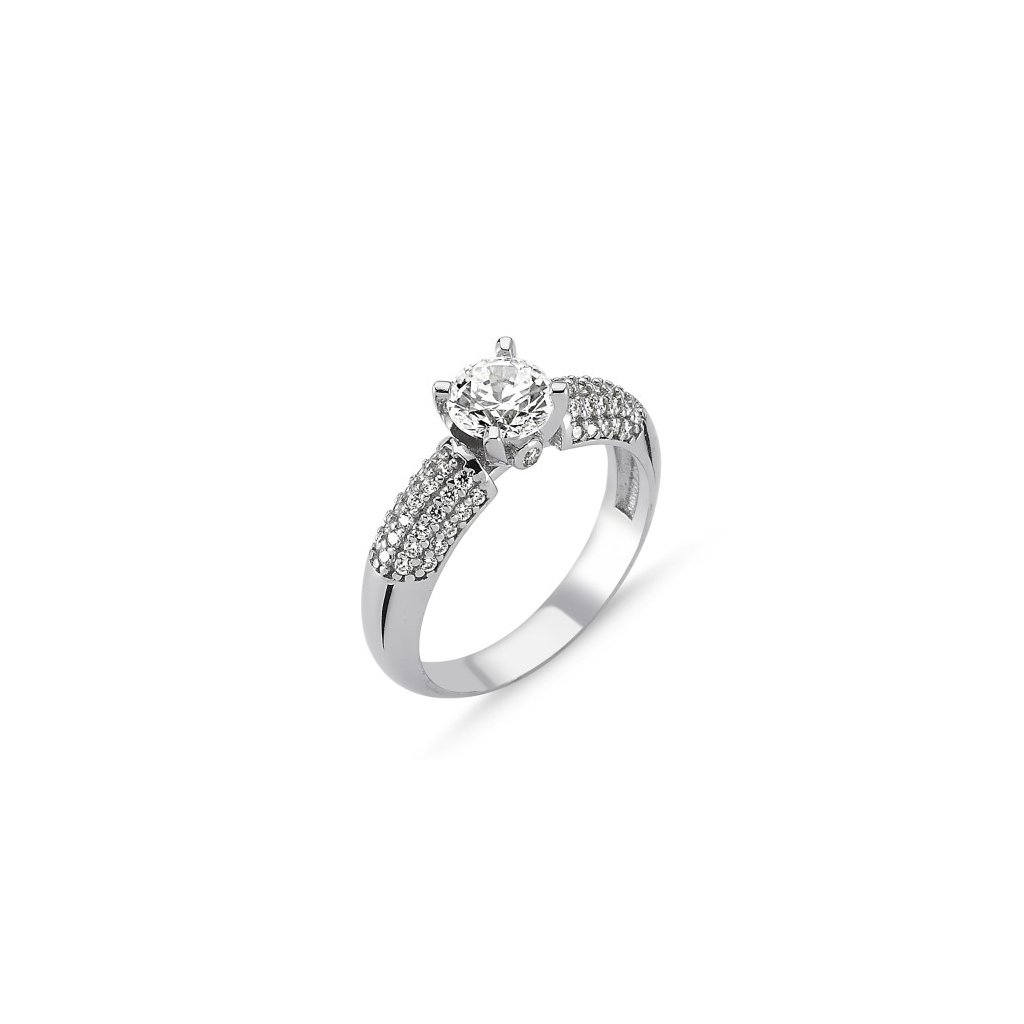 6837448db Strieborný dámsky prsteň so Swarovski zirkónom Striebro 925/1000: 2,4 g + RH