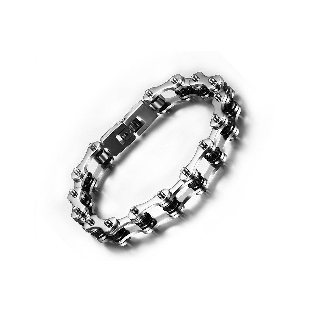 000484d8f Náramok z chirurgickej ocele reťazový vzor - mŠperk.sk