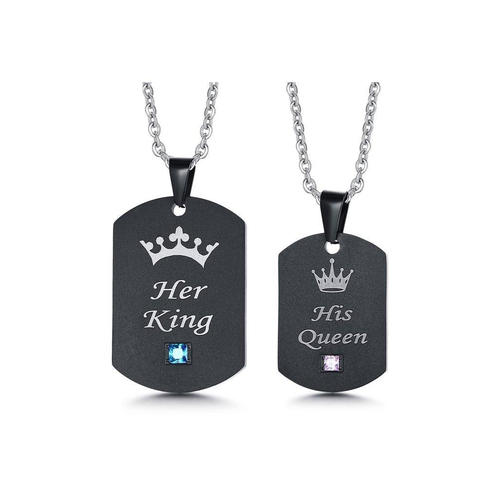 Prívesky pre dvoch Her King His Queen