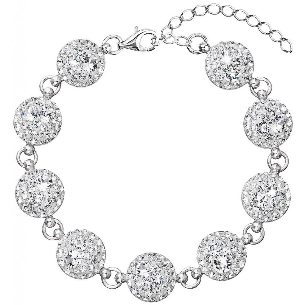 Strieborný dámsky náramok so Swarovski Crystals - mŠperk.sk 28fea355656