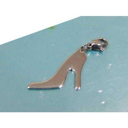 Prívesok lodička v tvare topánky na opätku