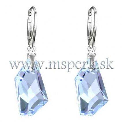 Náušnice so Swarovski Crystals Aquamarine  Ag 925/1000 - 1,5 g