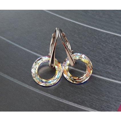 Náušnice krúžky Made with Swarovski Crystals