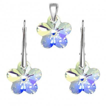Súprava kvety so Swarovski Crystals 14mm flower