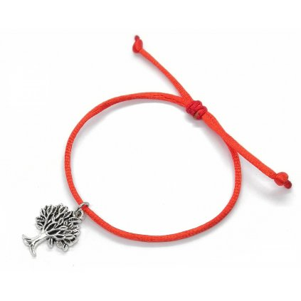 Ochranný náramok Sila života so stromom červená farba