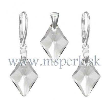 Exkluzívny set SWI crystal v tvare kosoštvorca