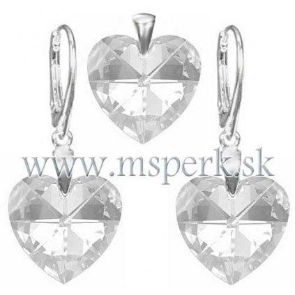 Exkluzívny set SWI crystal v tvare srdca