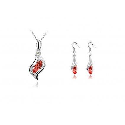 Set SWI crystal Exclusive náušnice a náhrdelník s retiazkou