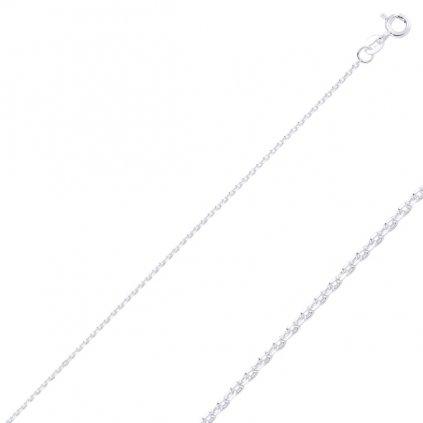 Strieborná retiazka Forzentina 50 cm