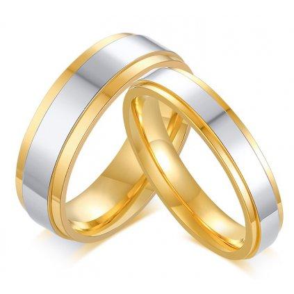 Prstene pre dvoch z chirurgickej ocele