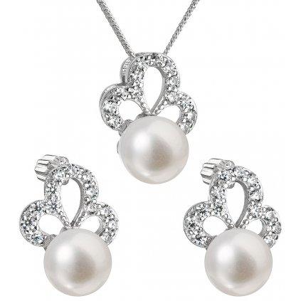 prívesok a náušnice s perlou