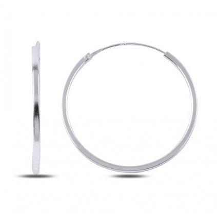 Strieborné náušnice kruhy 30 mm