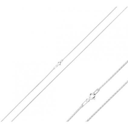 strieborná retiazka rope