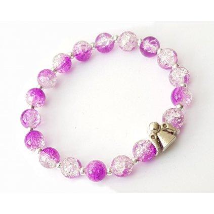 Anjelský ochranný náramok purple